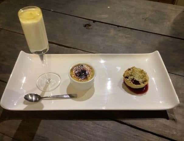 trio of apple desserts